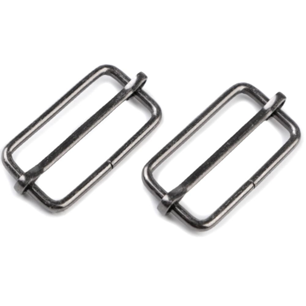 10 Metallschieber für 32mm breite Bänder in Nickel-Schwarz