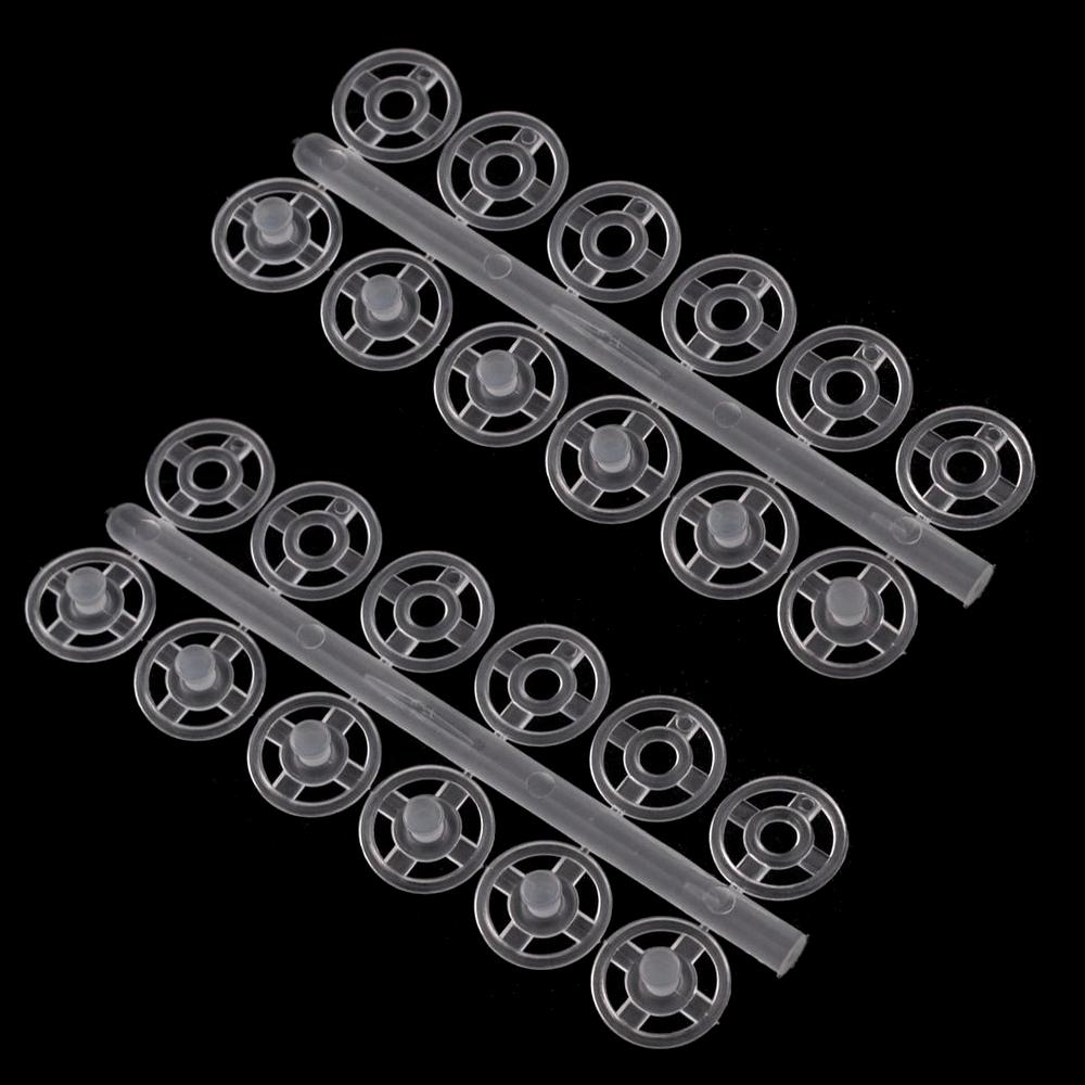 36 Druckknöpfe 7 mm aus Kunststoff in Transparent