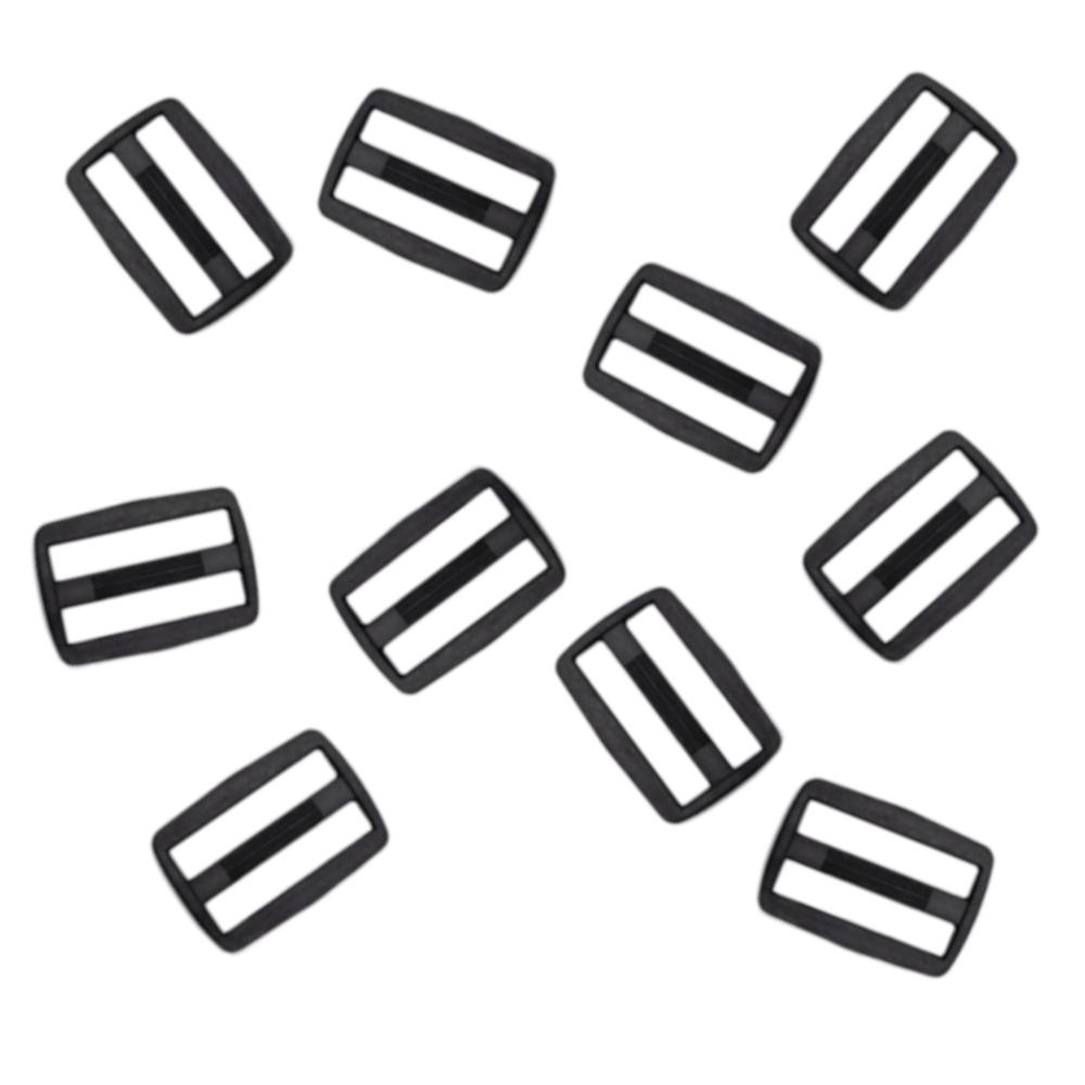 10 Gurtversteller aus Kunststoff 25 mm in Schwarz