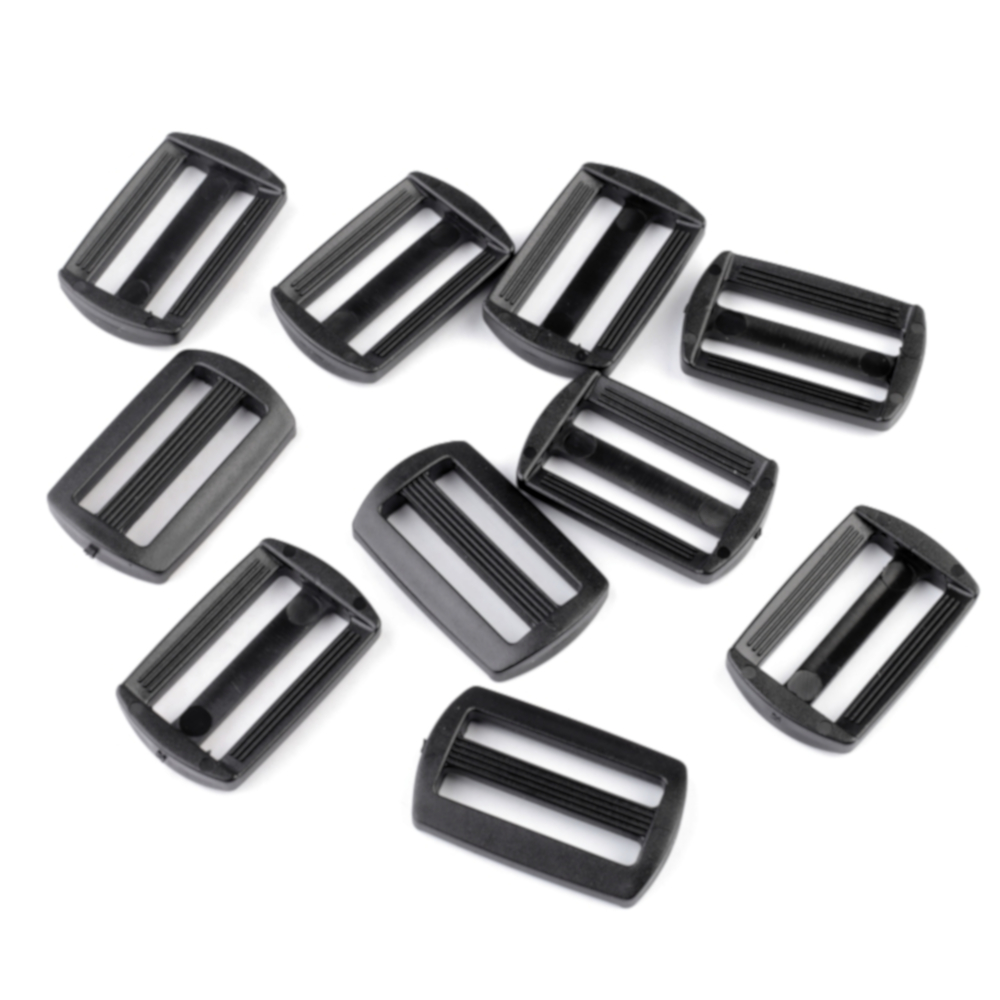 10 Gurtversteller aus Kunststoff 30 mm in Schwarz