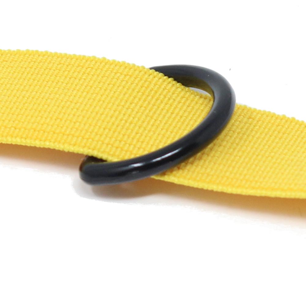10 D-Ringe aus Kunststoff für Gurtbänder bis 25 mm Breite in Schwarz