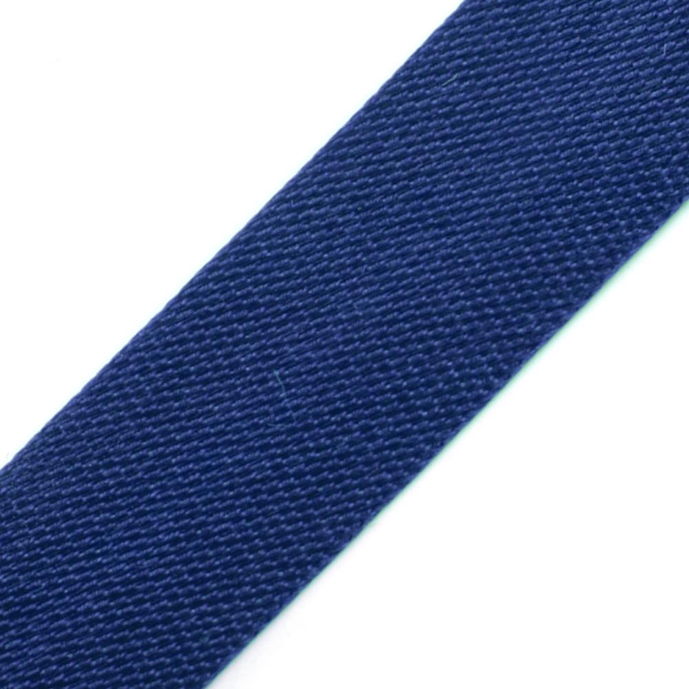 10 Meter Satin Schrägband 15mm Breit (gefalzt) in Königsblau