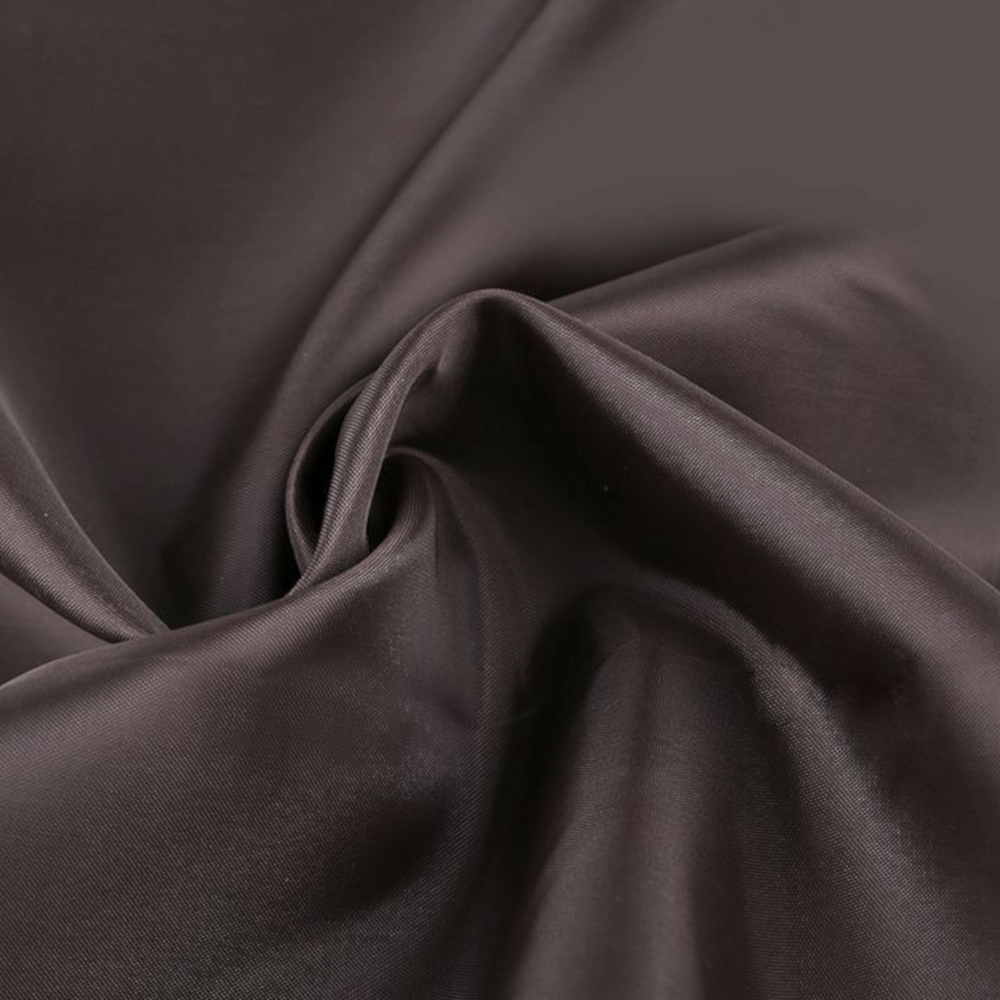 0,5m | Futterstoff 150cm Breit aus 100% Polyester in Dunkelbraun