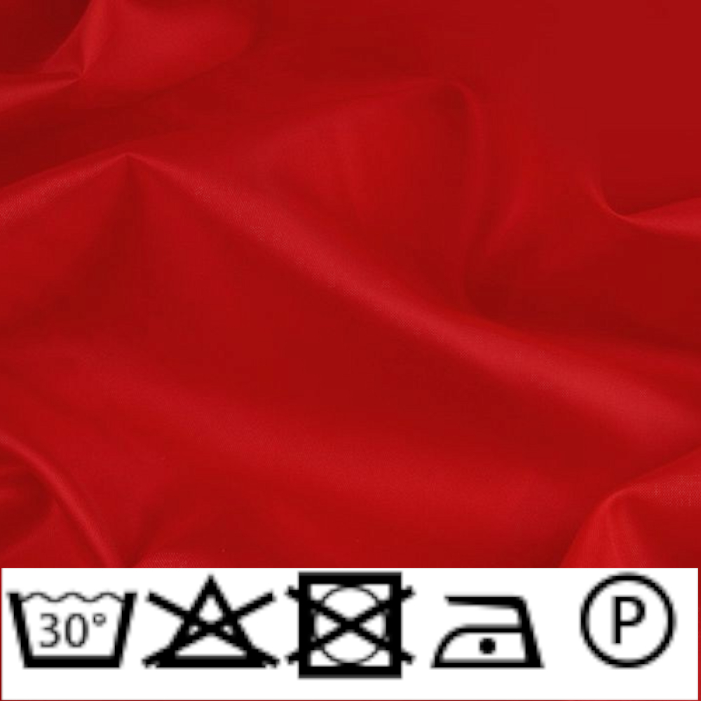 0,5m | Futterstoff 150cm Breit aus 100% Polyester in Dunkelrot