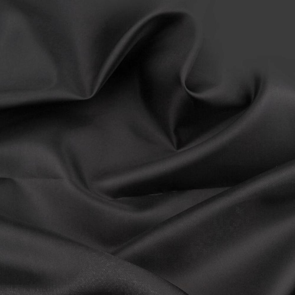 0,5m   Futterstoff 150cm Breit aus 100% Polyester in Schwarz