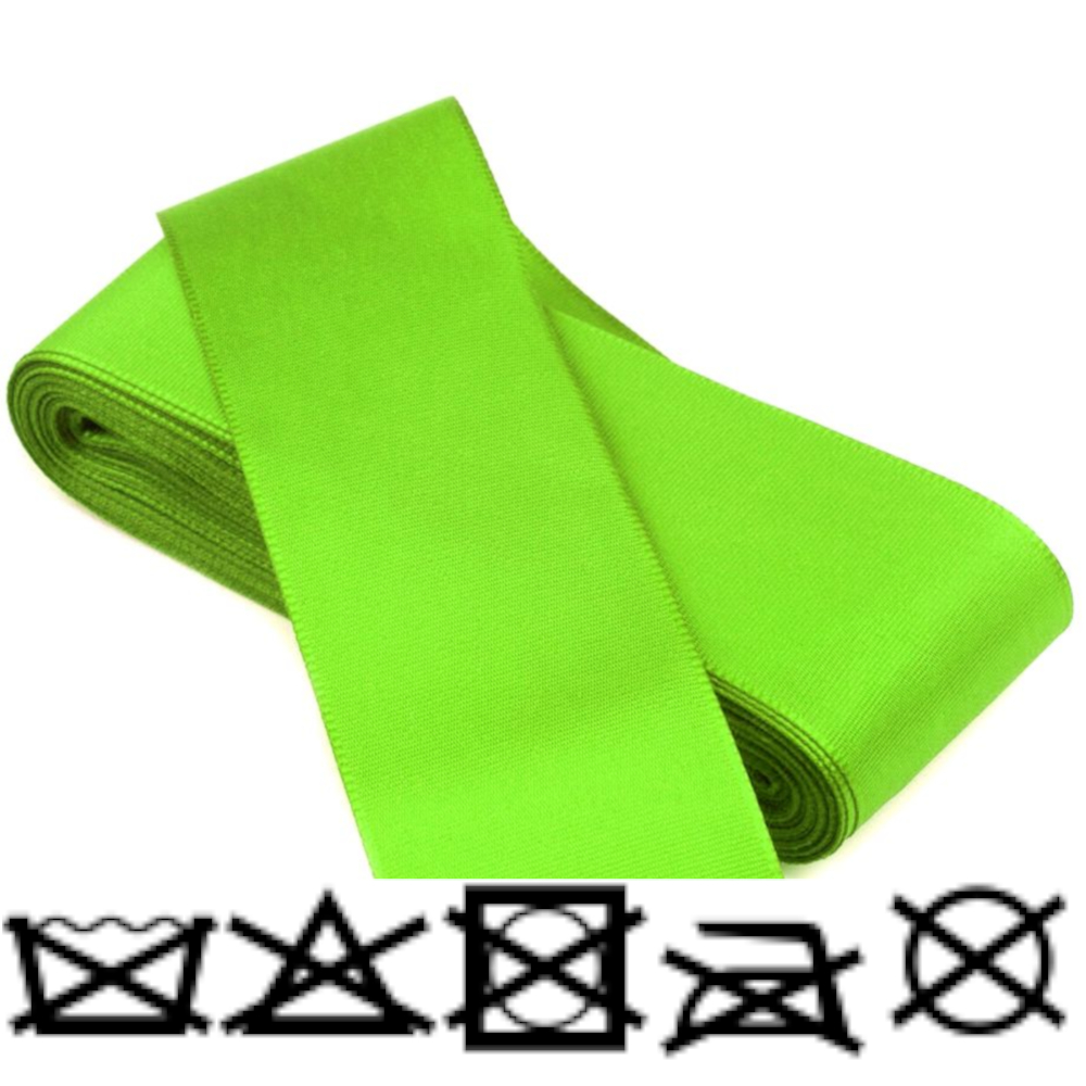Taftband - Schleifenband - aus Polyester 52mm Breit in Limettengrün