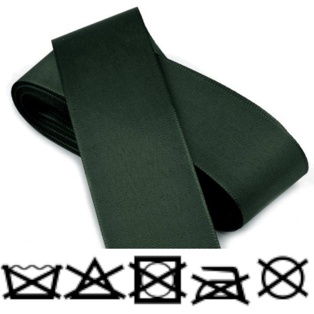 Taftband - Schleifenband - aus Polyester 52mm Breit in Grün-Khaki