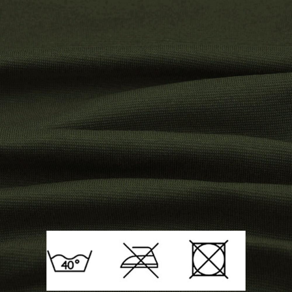 0,5m | Strickbündchen 70cm Breite in Army Grün