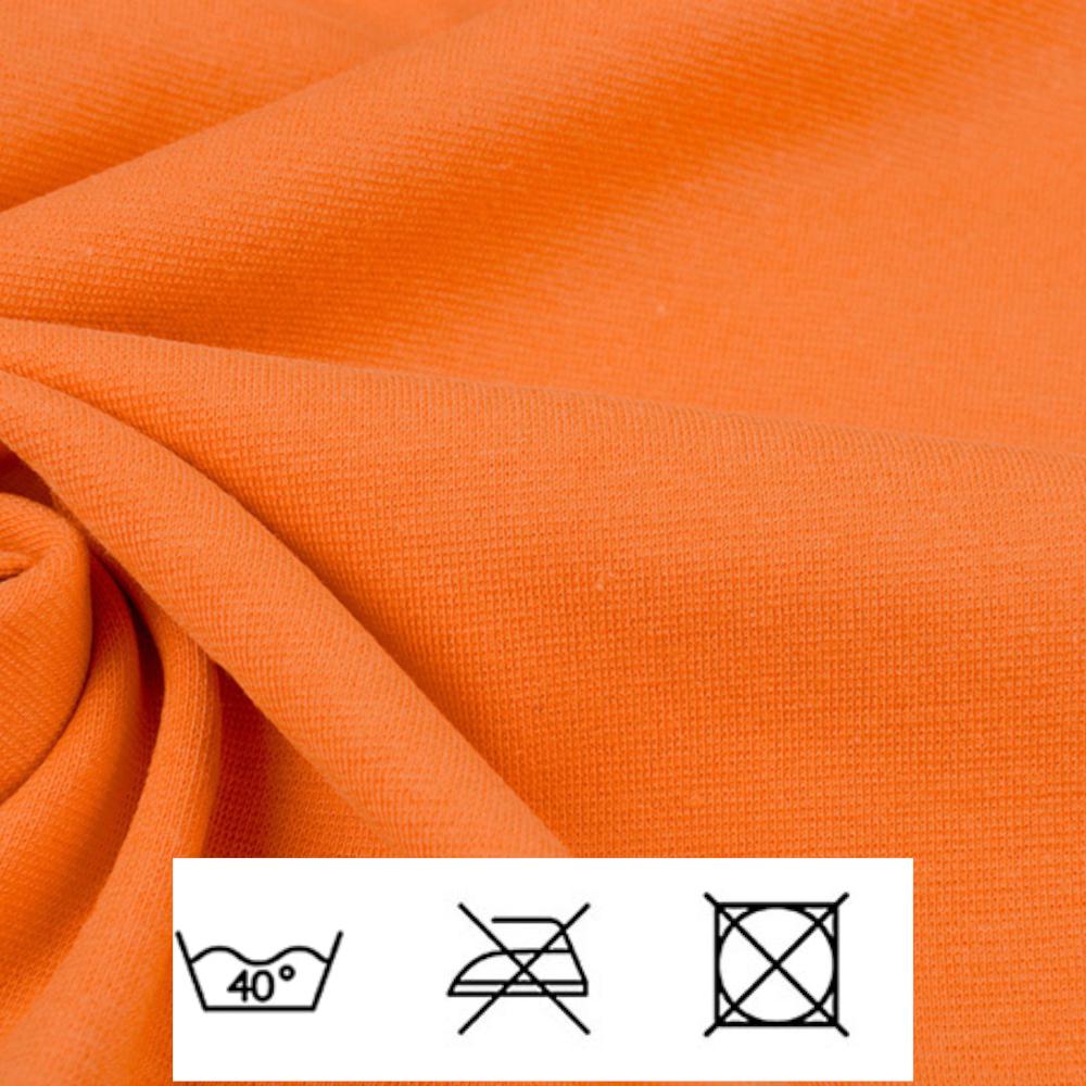 0,5m   Strickbündchen 70cm Breite in Orange