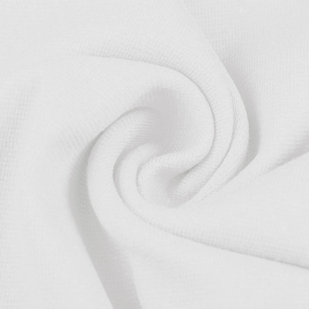 0,5m   Strickbündchen 70cm Breite in Weiß