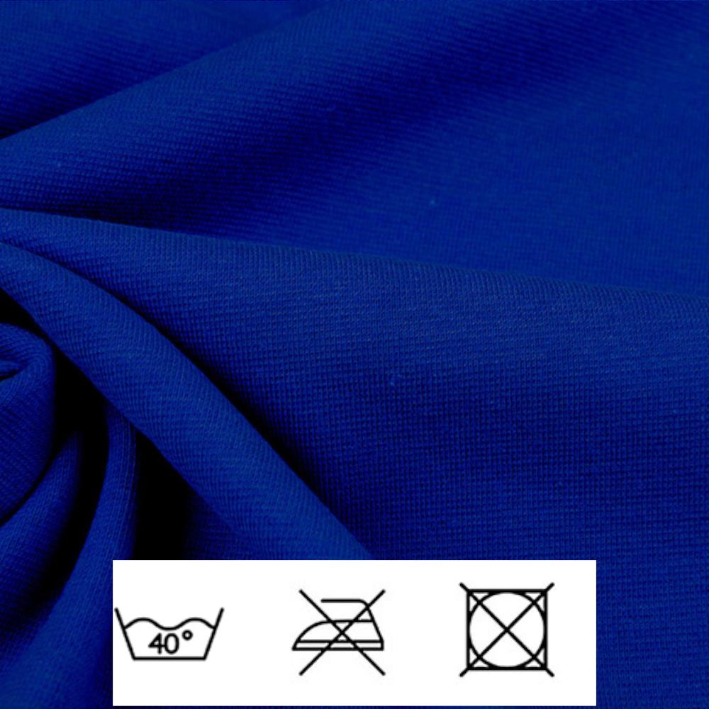 0,5m | Strickbündchen 70cm Breite in Kobalt Blau