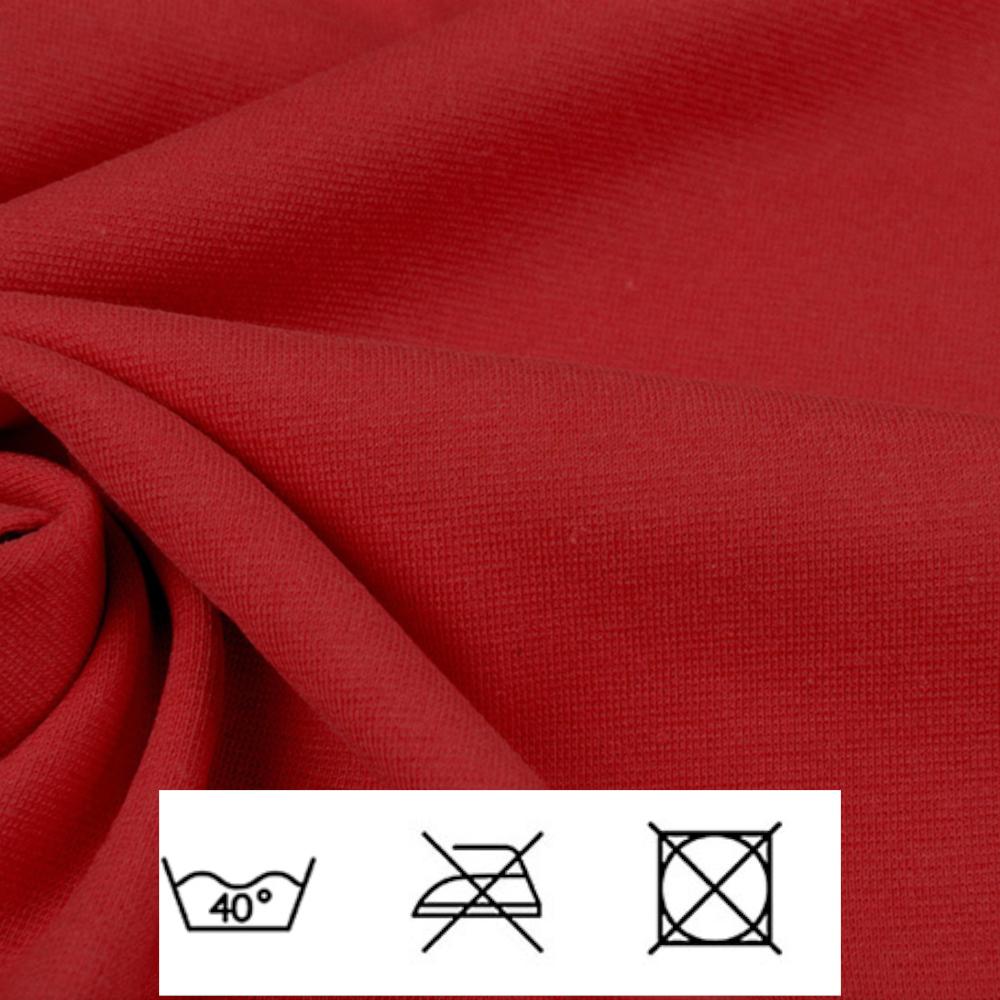 0,5m | Strickbündchen 70cm Breite in Rot