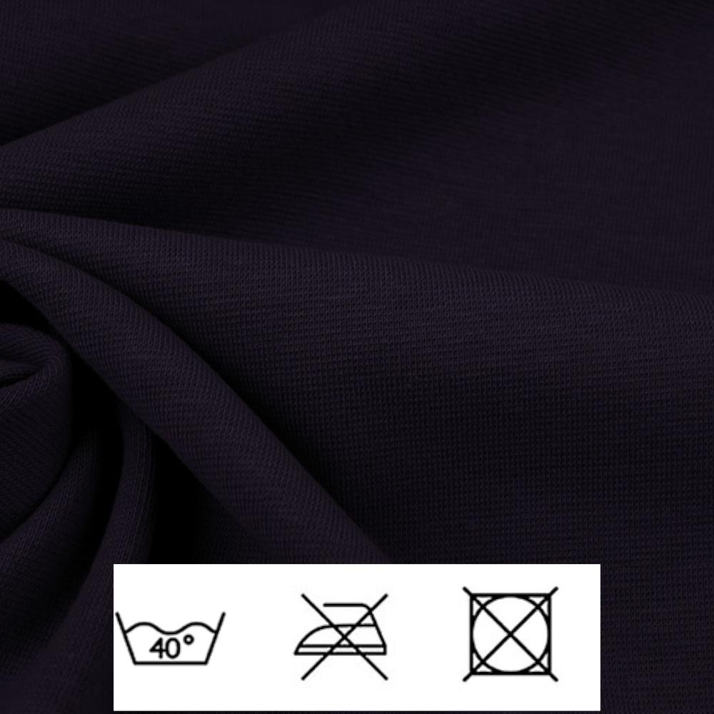0,5m | Strickbündchen 70cm Breite in Lila (dunkel)
