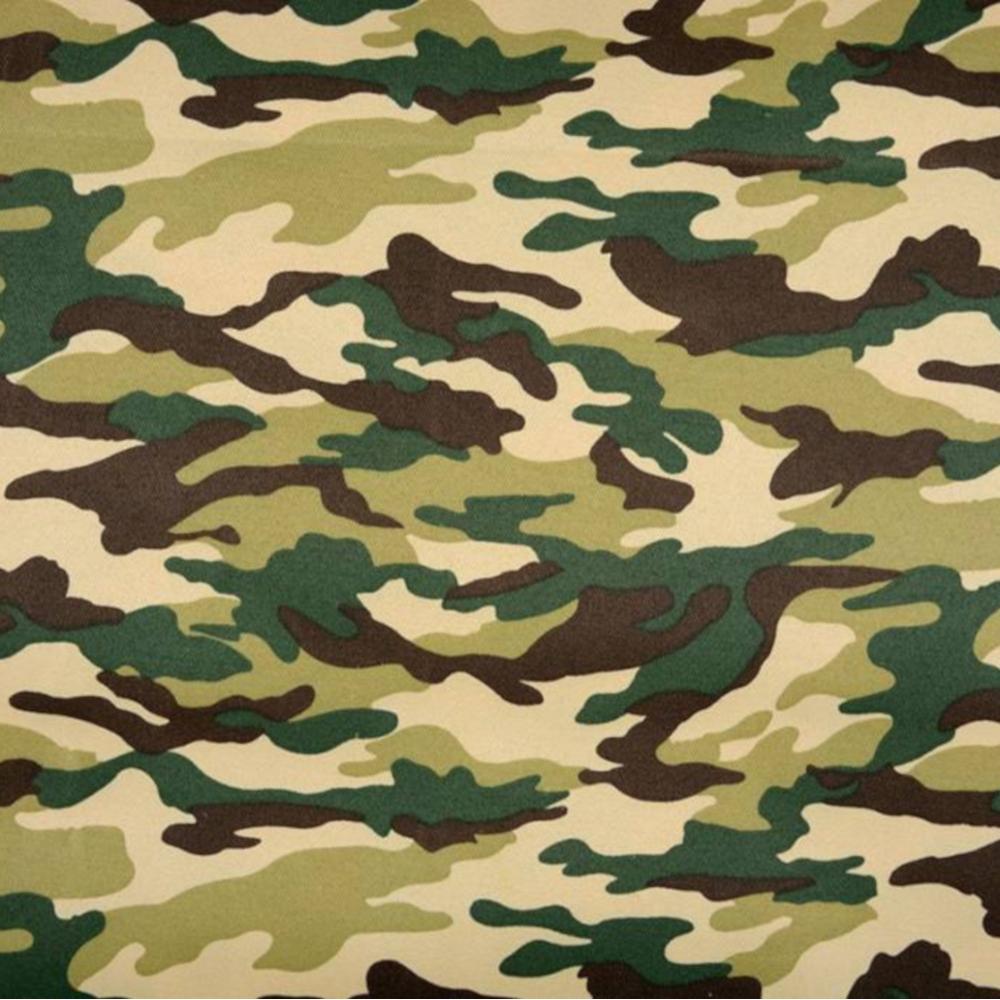 1m | Camouflage Polyester-Baumwoll Stoff 150cm in Grün-Braun