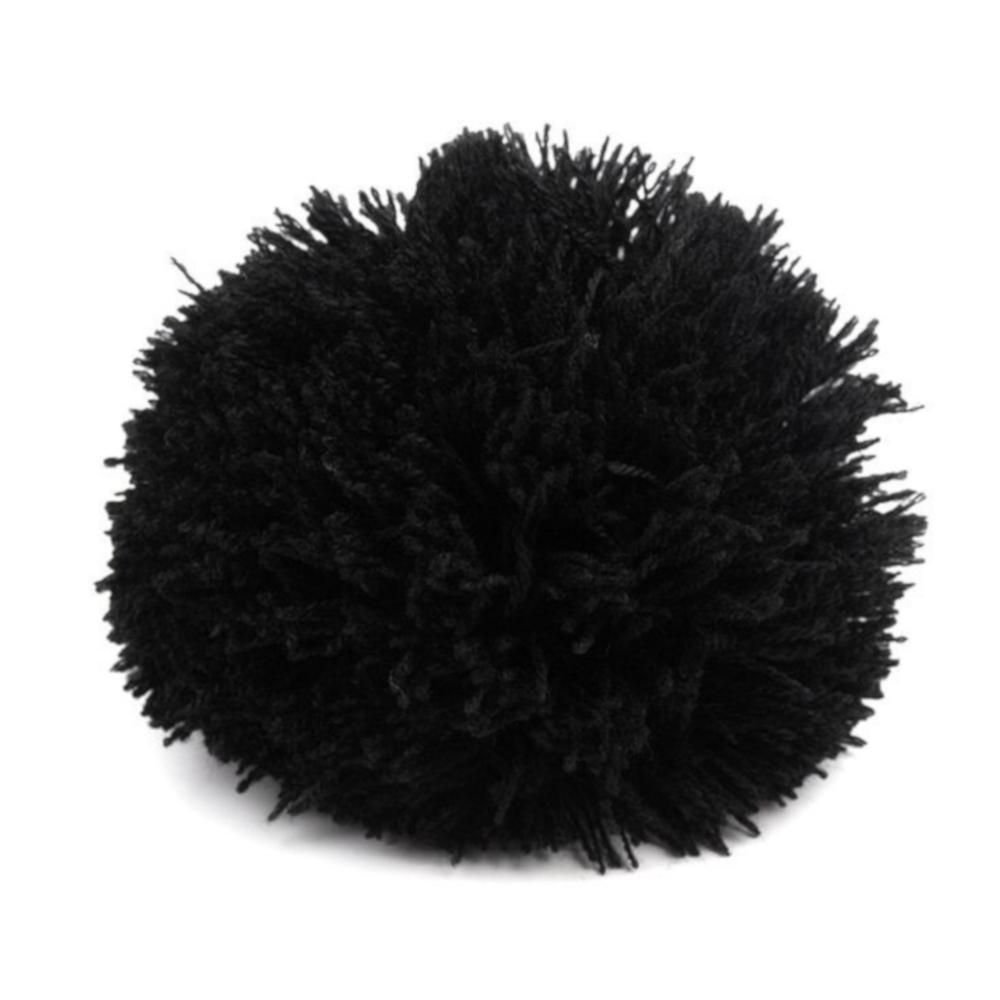 Pompon / Bommel 8,5cm Durchmesser in Schwarz