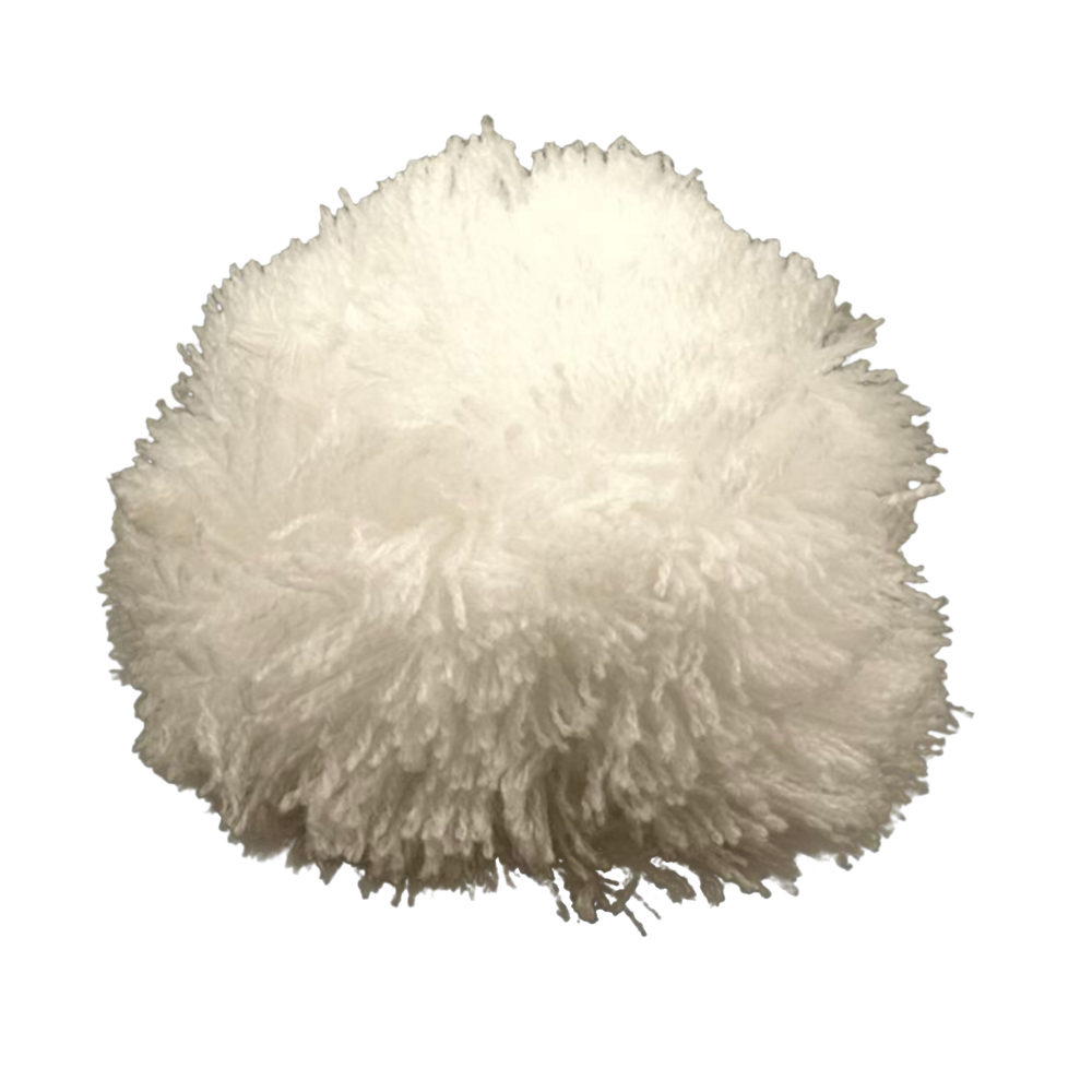 Pompon / Bommel 8,5cm Durchmesser in Weiss