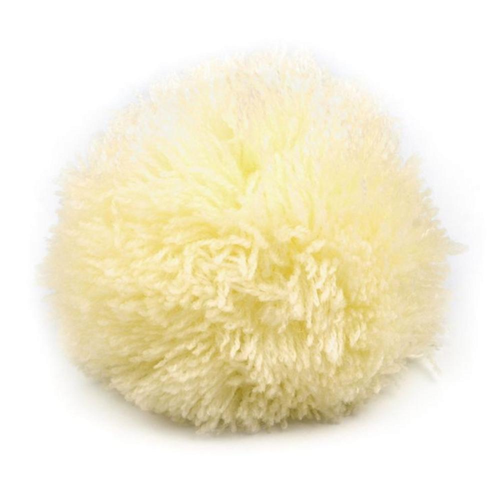 Pompon / Bommel 8,5cm Durchmesser in Wachs-Gelb