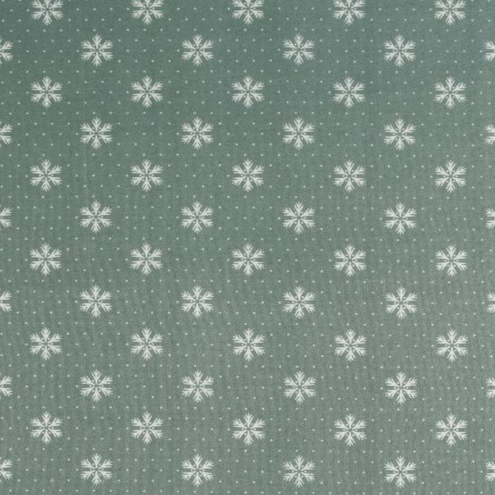 Dekostoff  Weihnachten 70g/m² - 160cm - 100% Polyester - Eis-Grün (3)
