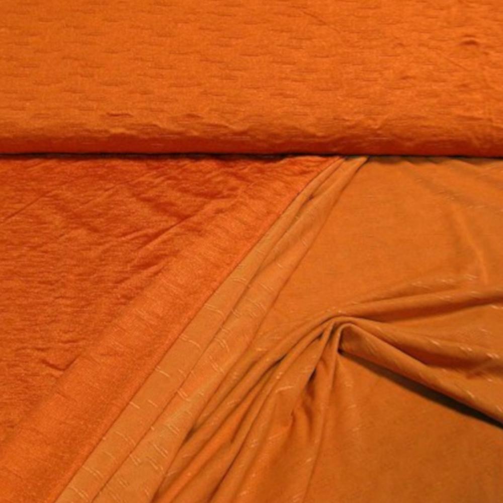 1m   Doubleface Viskosejersey - uni - orange (6094)