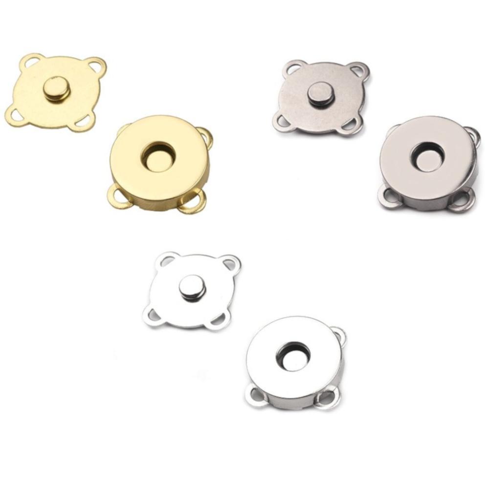 2x | 2tlg. Magnetverschluss  Ø 18mm  zum annähen - in silber-, goldfarben oder nickel-schwarz