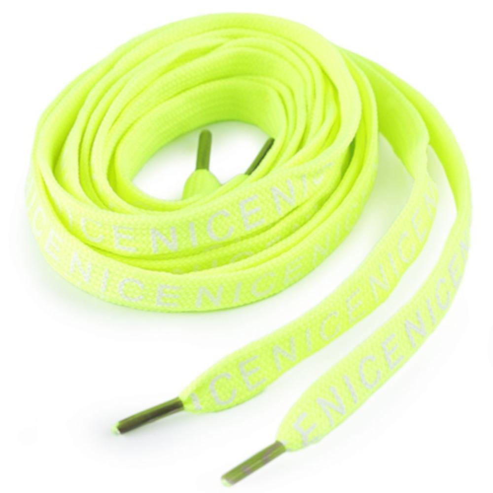 """1 Paar Schnürsenkel """"Nice"""" mit 130 cm Länge in Neon Gelb"""