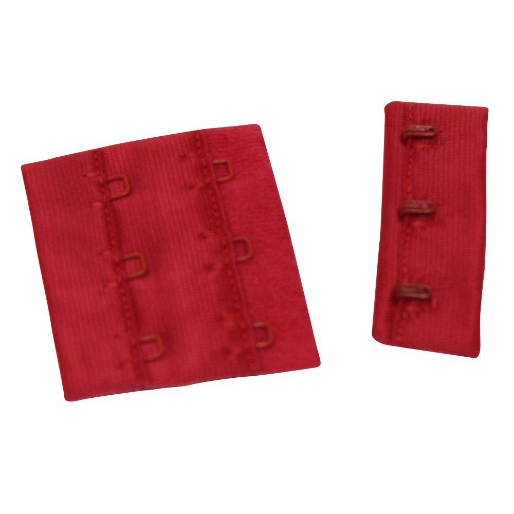 3 Stück BH-Verlängerung - 3x2 - (4x5cm) in Rot