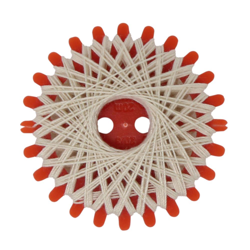 4er Set Sternzwirne, je 20 Meter Lauflänge, aus 100% Polyester in Hellbeige