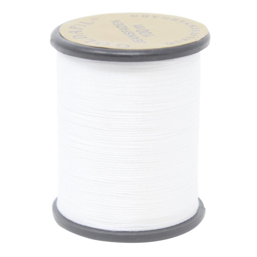 100 Meter Jeansnähgarn - 210D/2 - 100% Nylon Farbe: WEISS