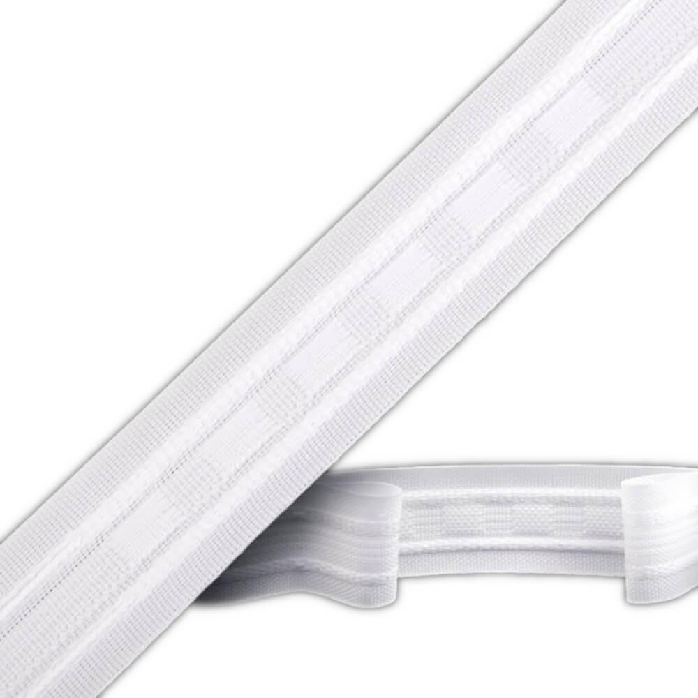 Gardinenband - Breite 25 mm - 100% POLYESTER - Weiß