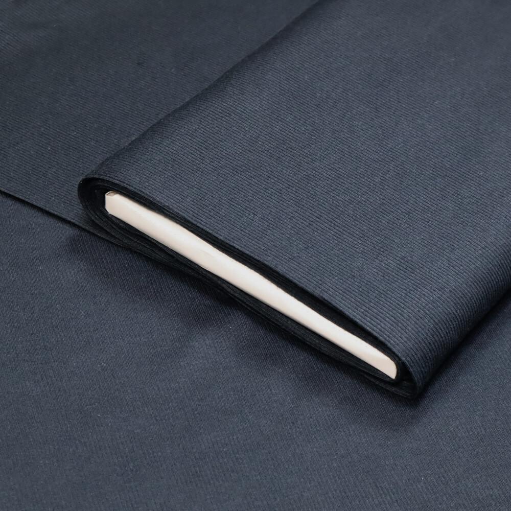 0,5m   Strickbündchen 100 cm Breite - gerippt - Farbe: dunkelblau (12601)