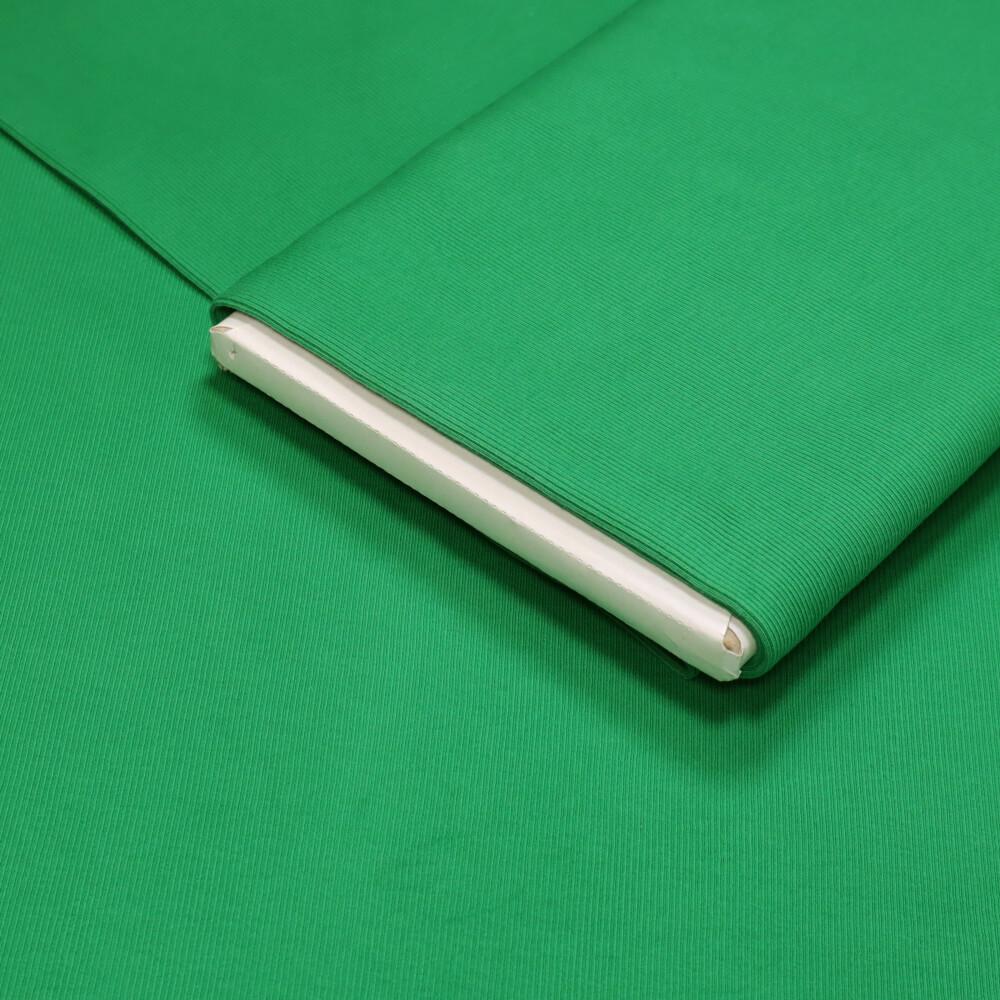 0,5m   Strickbündchen 100 cm Breite - gerippt - Farbe: grün (4193)