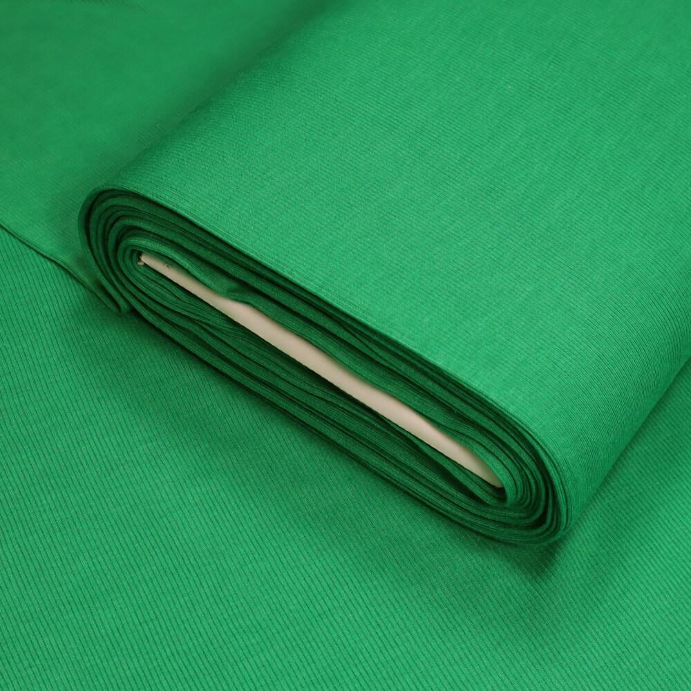 0,5m   Strickbündchen 100 cm Breite - gerippt - Farbe: grün (5883)