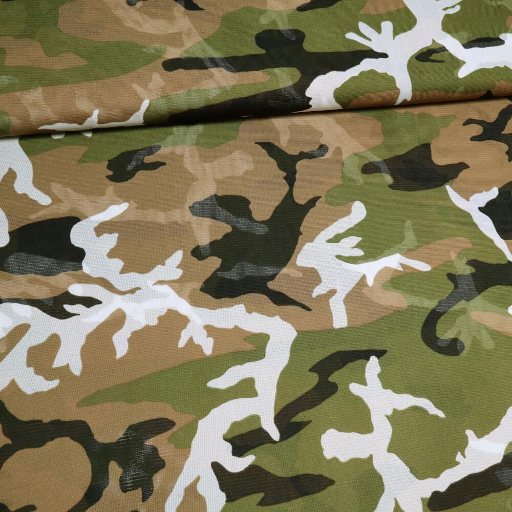 1 m | Weichtüll (Mesh) - 150 cm Breite - Camouflage-Style (6448)