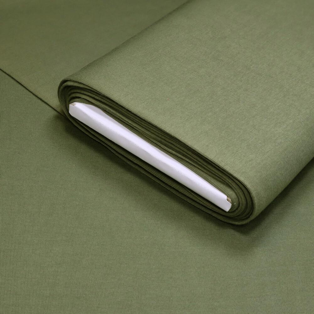 0,5m   Bündchenstoff 90 cm Breite - JERSEY-glatt - Farbe: uni - khaki (12578)