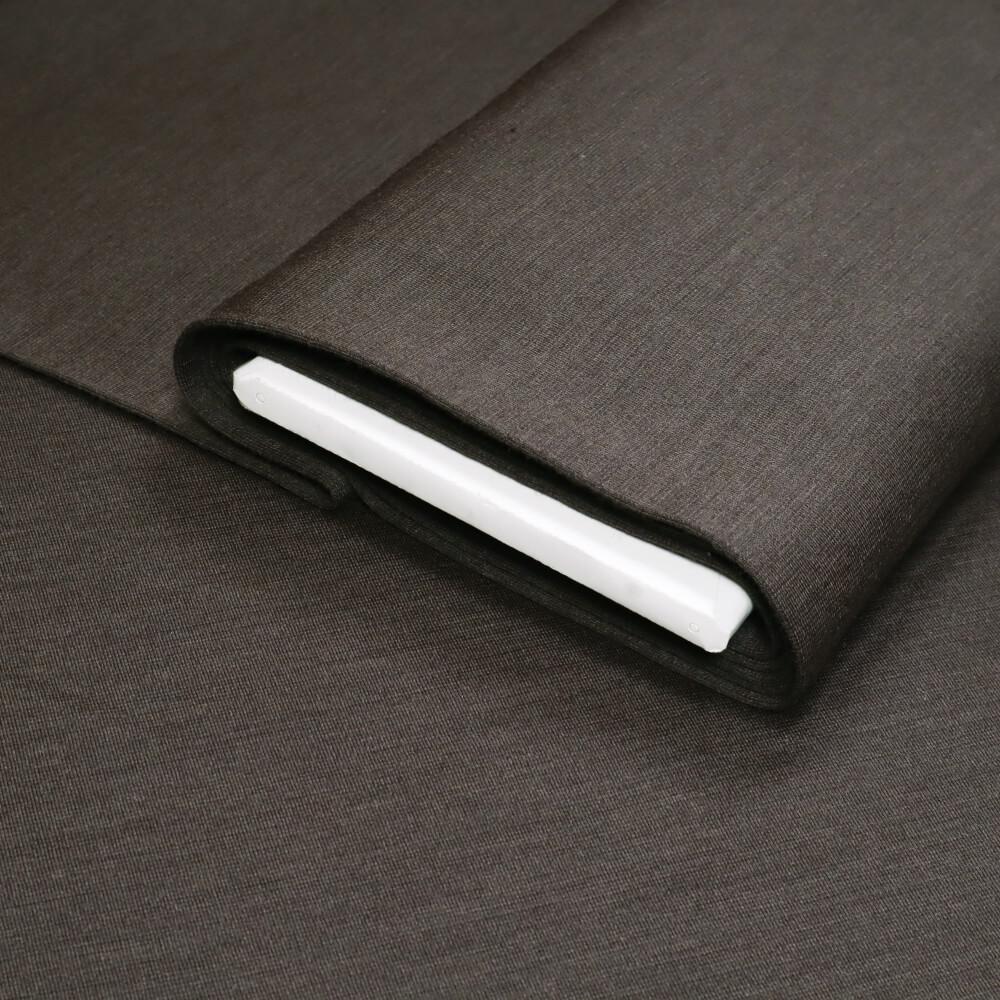 0,5m   Bündchenstoff 160 cm Breite - Strick - Farbe: uni - dunkelbraun (11935)