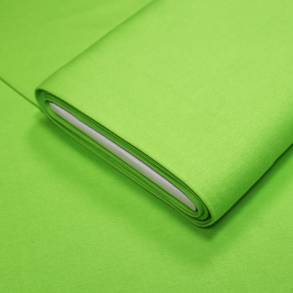 0,5m   Bündchenstoff 90 cm Breite - JERSEY-glatt - Farbe: uni - kiwi (12563)