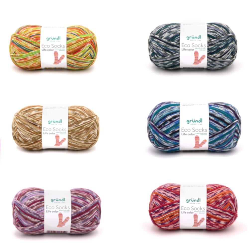 GRÜNDL | Eco Socks Life color, 100 g