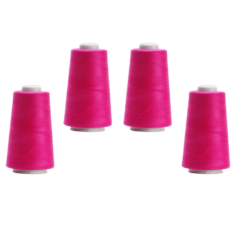 4 Konen - 3000 yrd Overlockgarn 011 - Pink