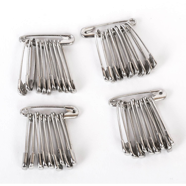 40 Sicherheitsnadeln - 15mm - Silber