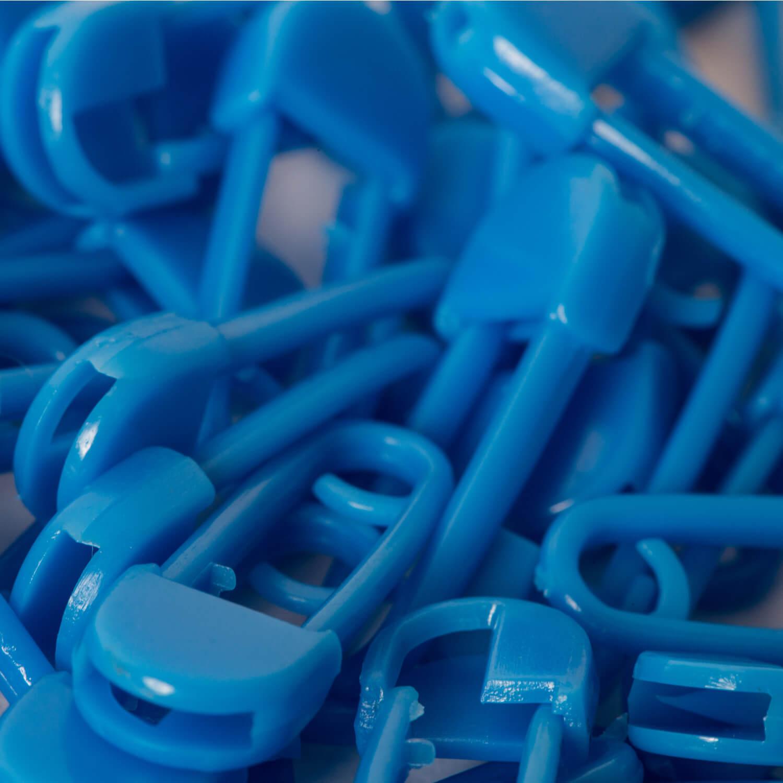 10 Kunststoff Sicherheitsnadeln - 20mm - BLAU