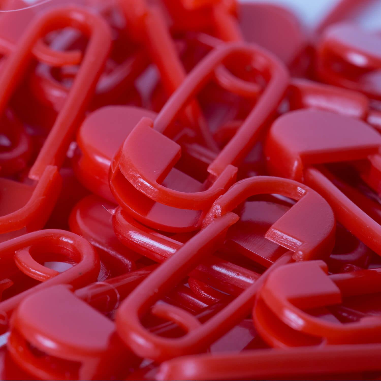 10 Kunststoff Sicherheitsnadeln - 20mm - ROT