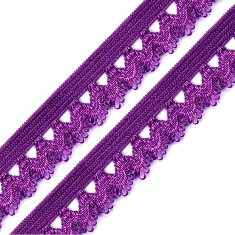 Rüschengummi - 15mm - Purple (8)