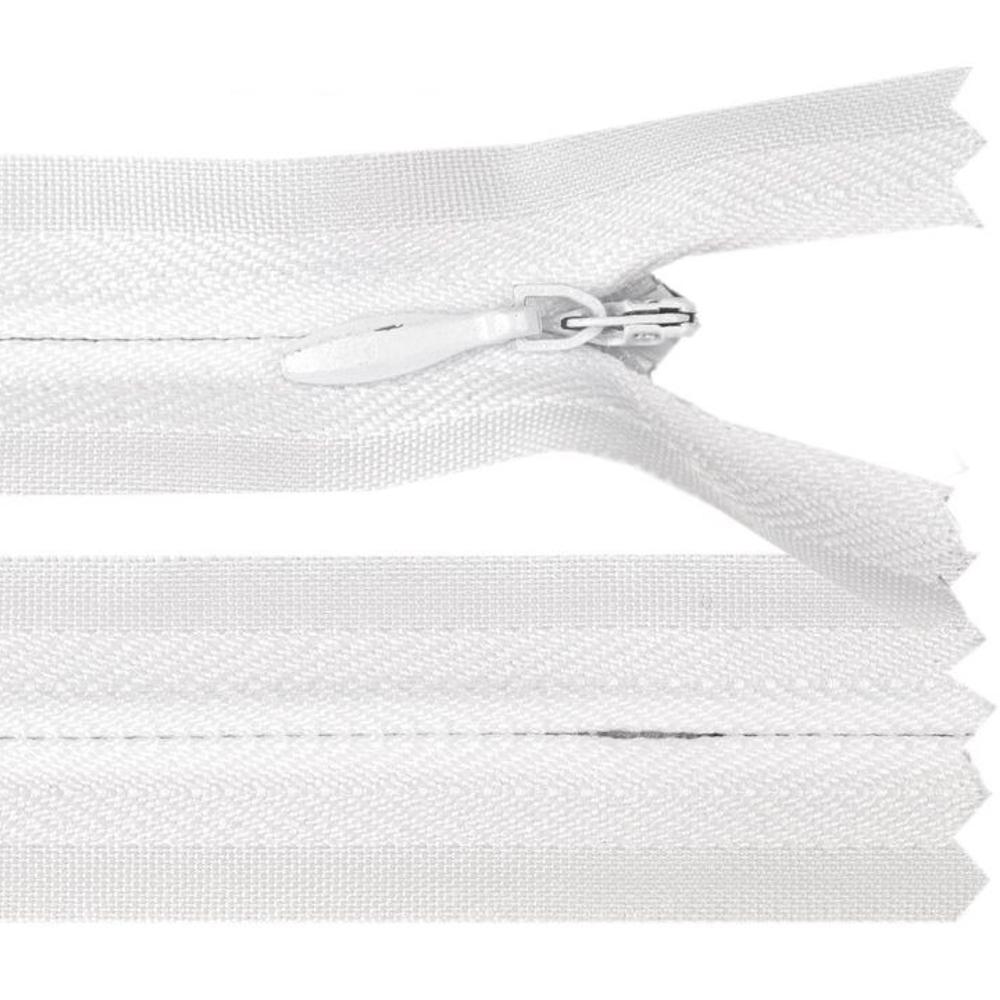 60 cm Reißverschluss nicht teilbar RV 2,3cm mit Autolock in Weiß