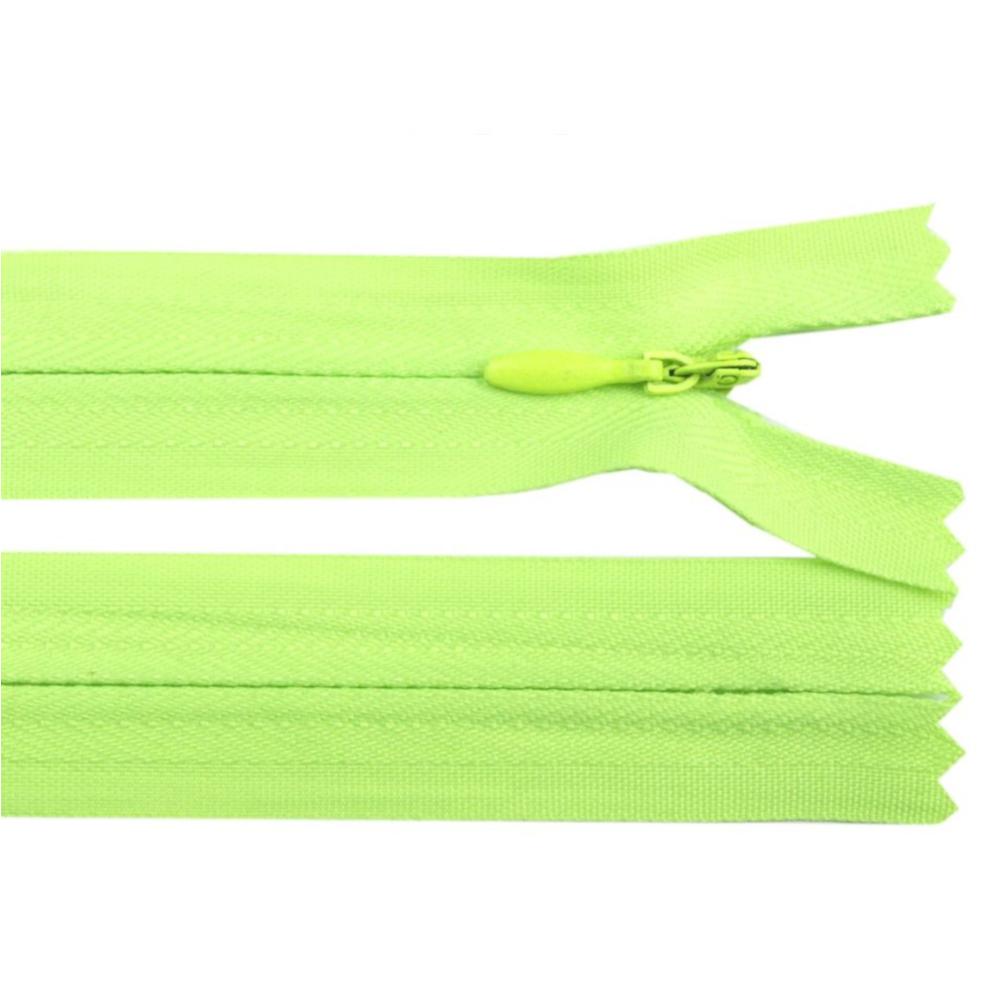 60 cm Reißverschluss nicht teilbar RV 2,3cm mit Autolock in Grün-Gelb