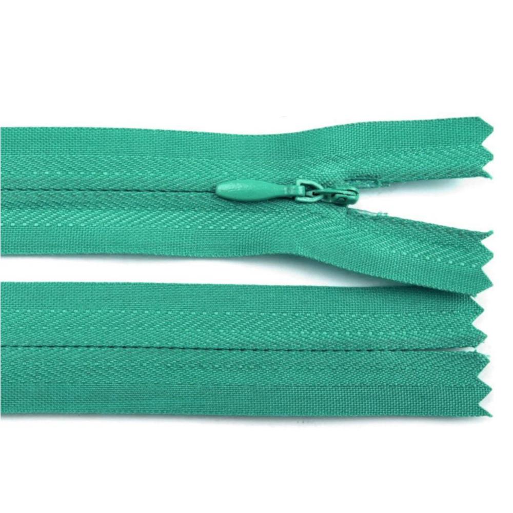 60 cm Reißverschluss nicht teilbar RV 2,3cm mit Autolock in Emerald