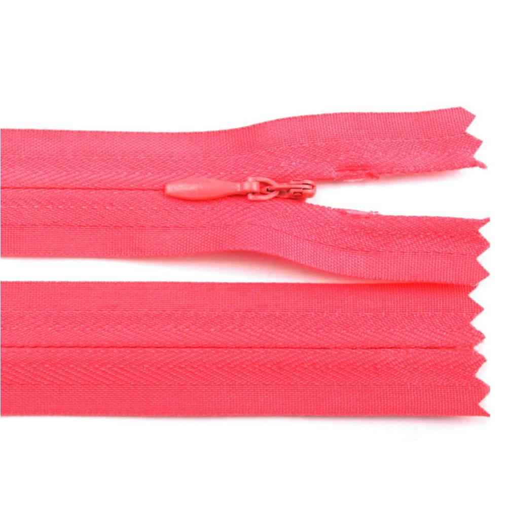60 cm Reißverschluss nicht teilbar RV 2,3cm mit Autolock in Pink kräftig