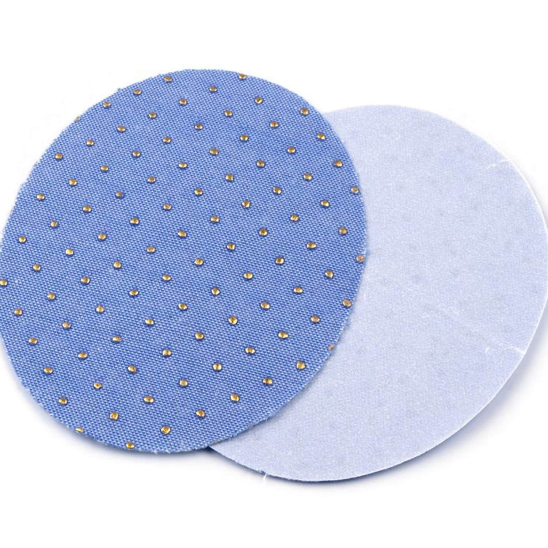 2x Jeans Aufbügler / Flicken - 6,8x8,5 cm - Himmelblau (1)