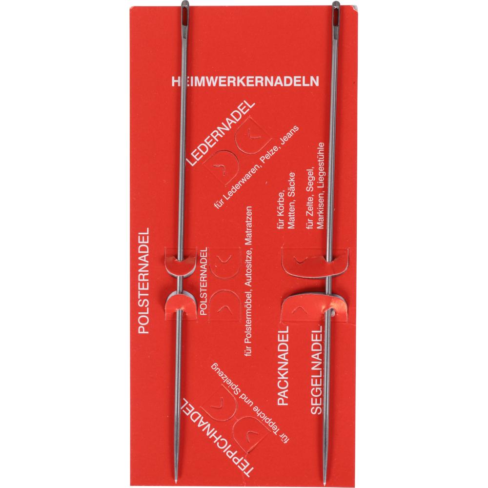 2 Matratzennadeln mit je 15cm Länge aus gehärtetem Stahl