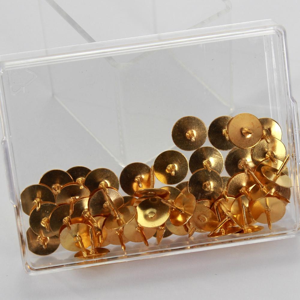 50 Heftzwecken in GOLD