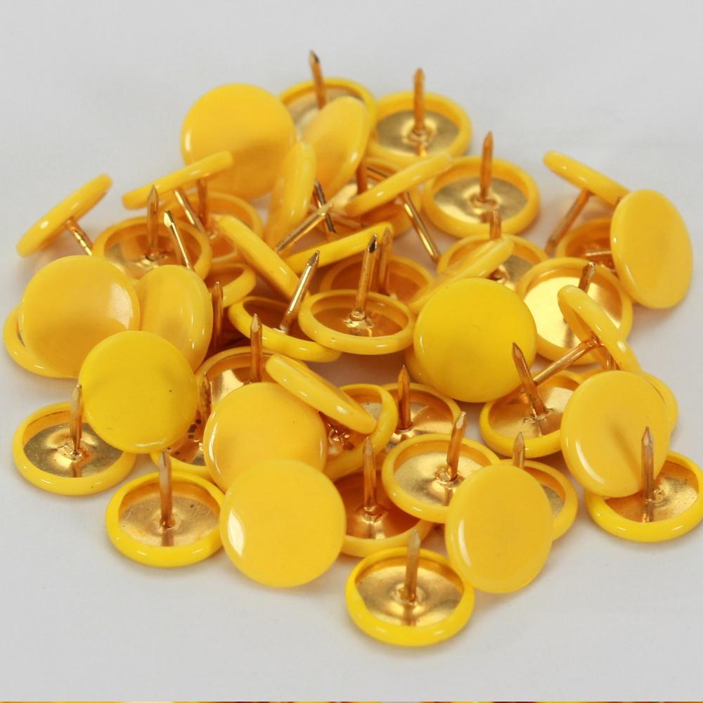 50 Heftzwecken in Gelb